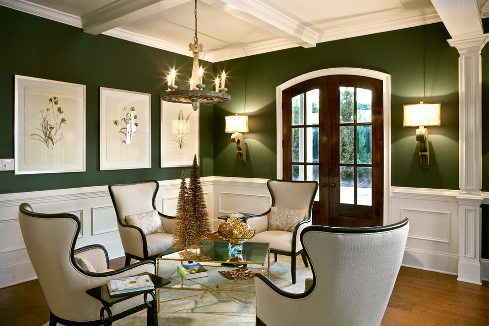 23+ Green Wall Designs, Decor Ideas for Living Room ... on Living Room:5J0Grrq-Soy= Curtains Design  id=51722