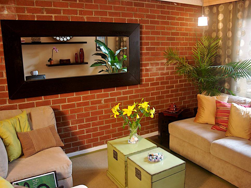 25+ Brick Wall Designs, Decor Ideas For Living Room ... on Brick Wall Decorating Ideas  id=94450