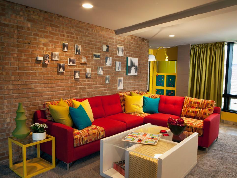 25+ Brick Wall Designs, Decor Ideas For Living Room ... on Brick Wall Decorating Ideas  id=67723