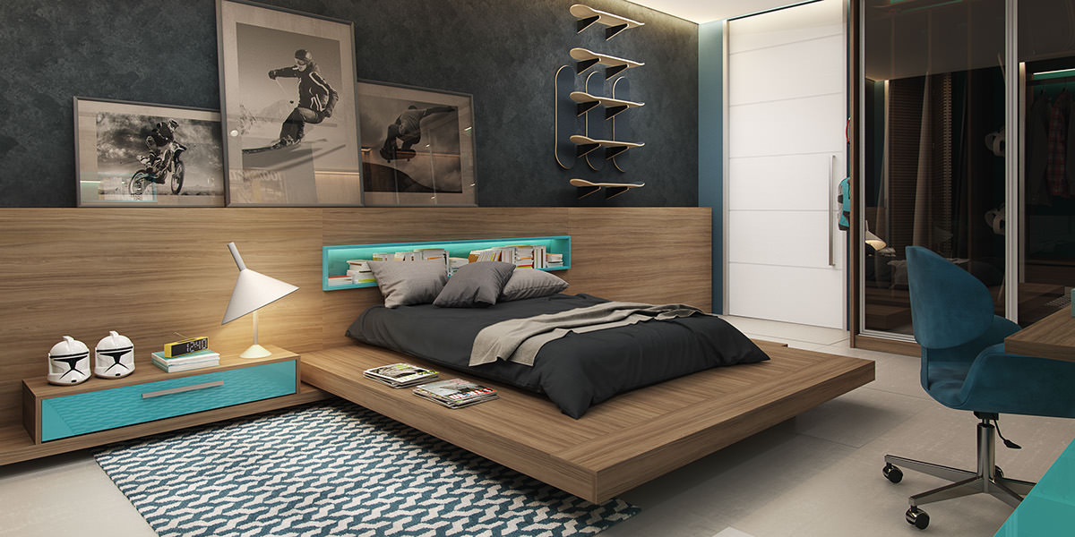 24+ Teen Boys Room Designs, Decorating Ideas | Design ... on A Small Room Cheap Cool Bedroom Ideas For Teenage Guys Small Rooms  id=99810