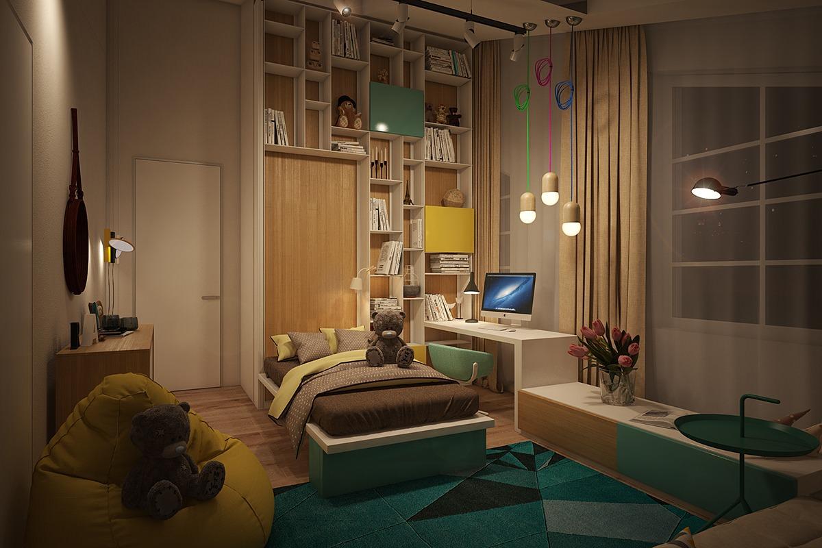 24+ Modern Kids Bedroom Designs, Decorating Ideas | Design ... on Teenage:m5Lo5Qnshca= Room Ideas  id=32358