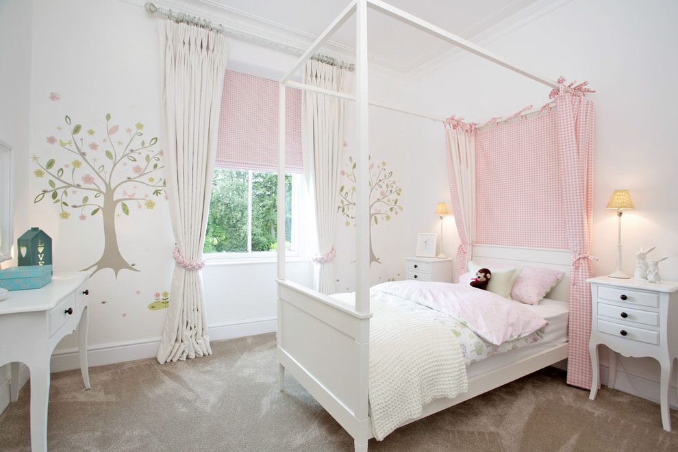 23+ Chic Teen Girls Bedroom Designs, Decorating Ideas ... on Beautiful Room Design For Girl  id=98266