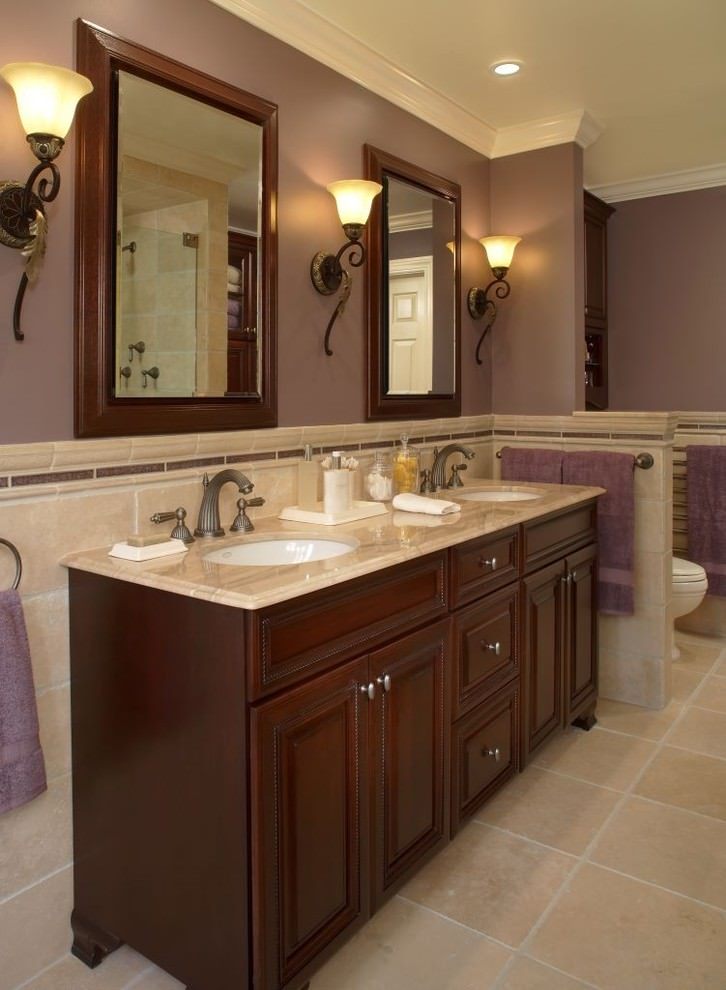 24+ Double Bathroom Vanity Ideas | Bathroom Designs ... on Model Bathroom Ideas  id=46306