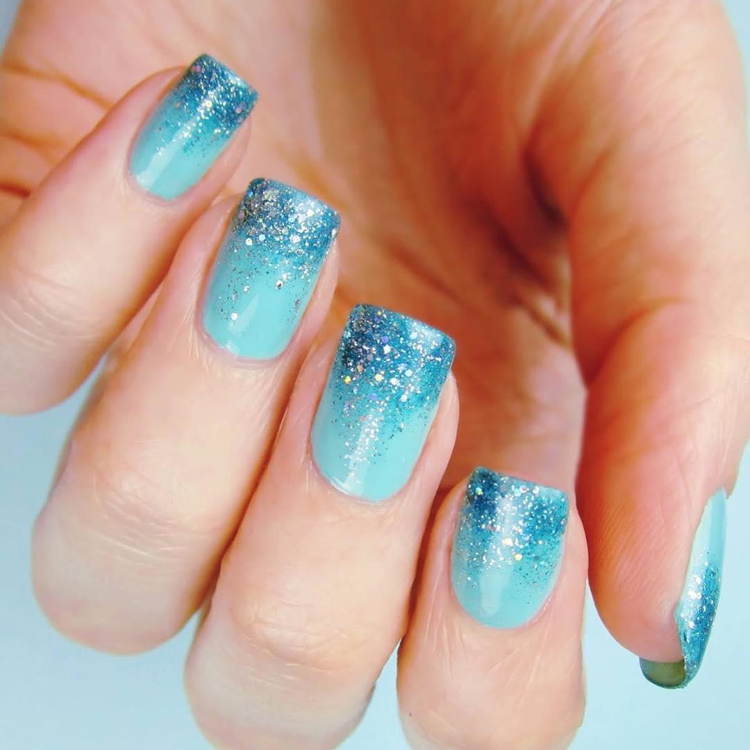 Light Blue Prom Nail Idea