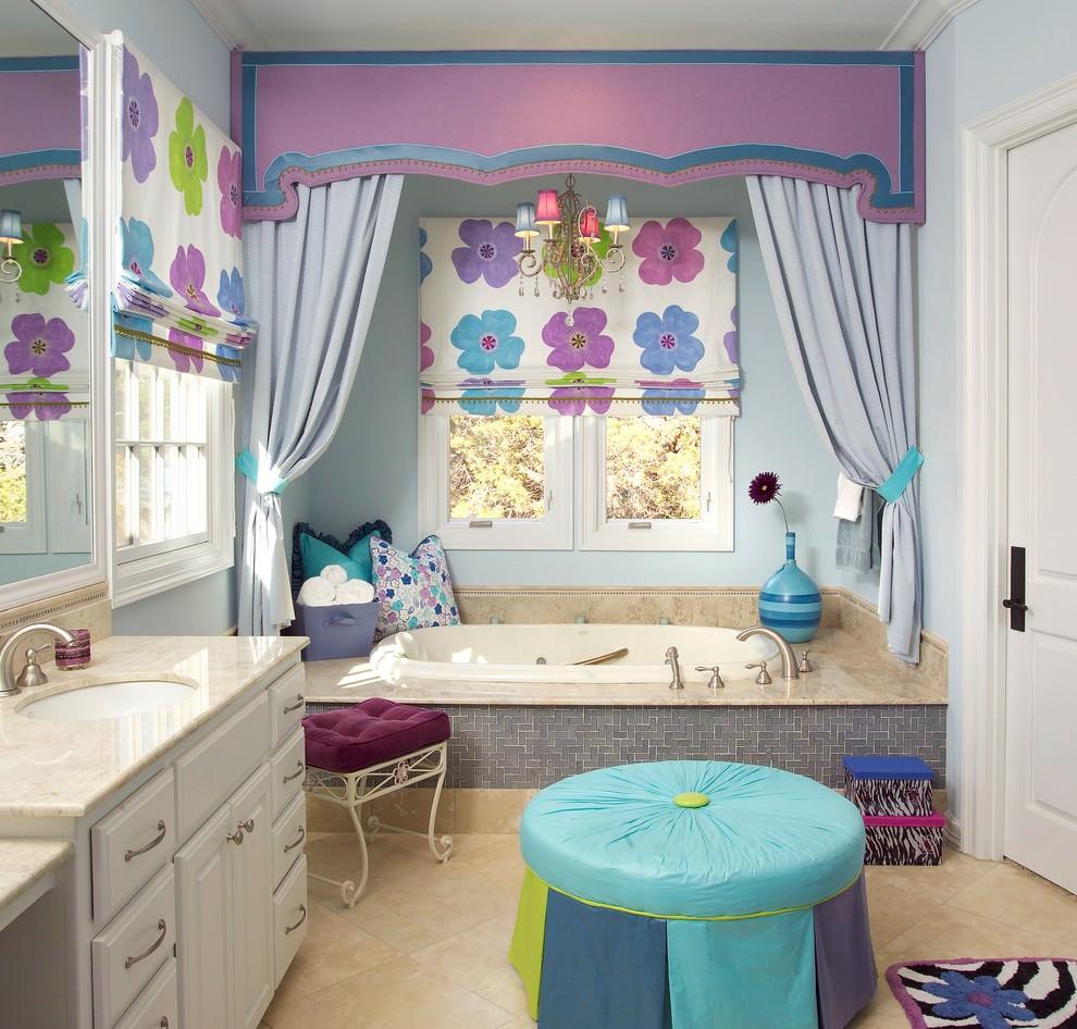 22+ Floral Bathroom Designs, Decorating Ideas | Design ... on Floral Tile Bathroom Ideas  id=93657