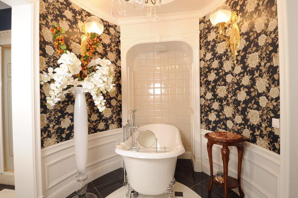 22+ Floral Bathroom Designs, Decorating Ideas | Design ... on Floral Tile Bathroom Ideas  id=46213