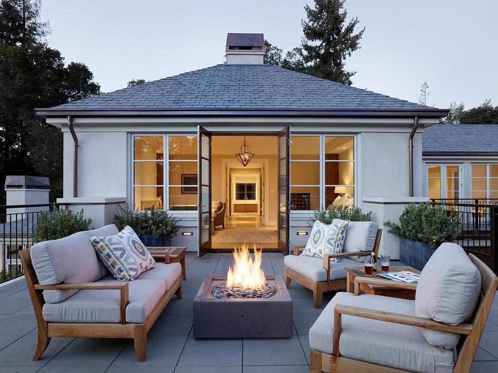 24+ Transitional Patio Designs, Decorating Ideas | Design ... on Cheap Backyard Patio Ideas id=56350