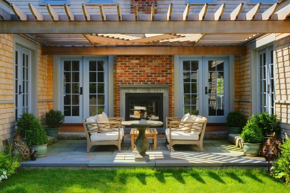 24+ Transitional Patio Designs, Decorating Ideas | Design ... on Backyard Patio Layout id=29369