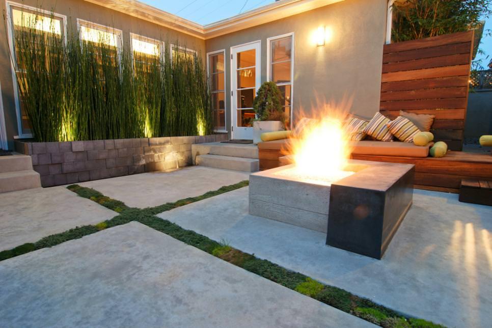 24+ Transitional Patio Designs, Decorating Ideas   Design ... on Modern Back Patio id=49265