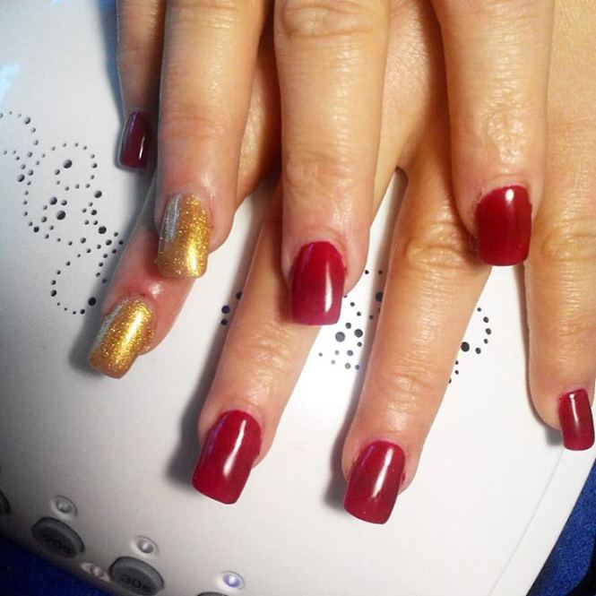 52 Red And Gold Nail Art Designs For Trendy S