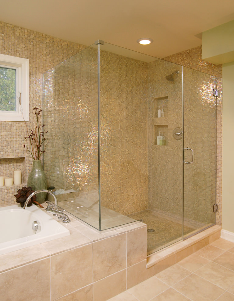 24+ Mosaic Bathroom Ideas, Designs | Design Trends ... on Floral Tile Bathroom Ideas  id=90301