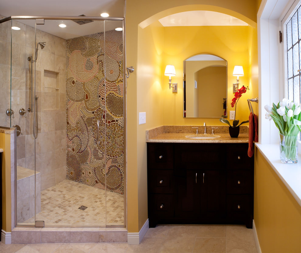 24+ Mosaic Bathroom Ideas, Designs | Design Trends ... on Floral Tile Bathroom Ideas  id=72687