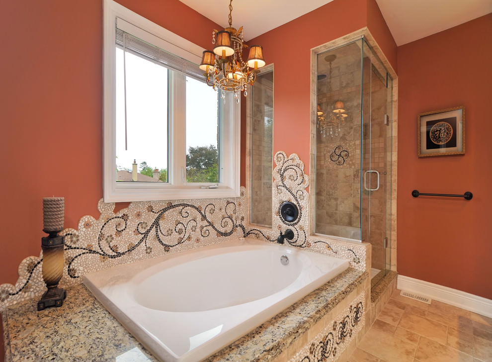 24+ Mosaic Bathroom Ideas, Designs | Design Trends ... on Restroom Ideas  id=60680