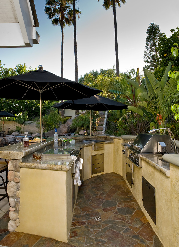 22+ Outdoor Kitchen Bar Designs, Decorating Ideas | Design ... on Patio With Bar Ideas id=19299