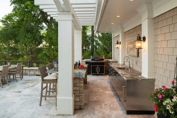 outdoor patio kitchen design idea 22+ Outdoor Kitchen Bar Designs, Decorating Ideas   Design