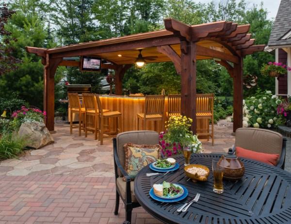 outdoor patio bar design ideas 22+ Outdoor Kitchen Bar Designs, Decorating Ideas | Design