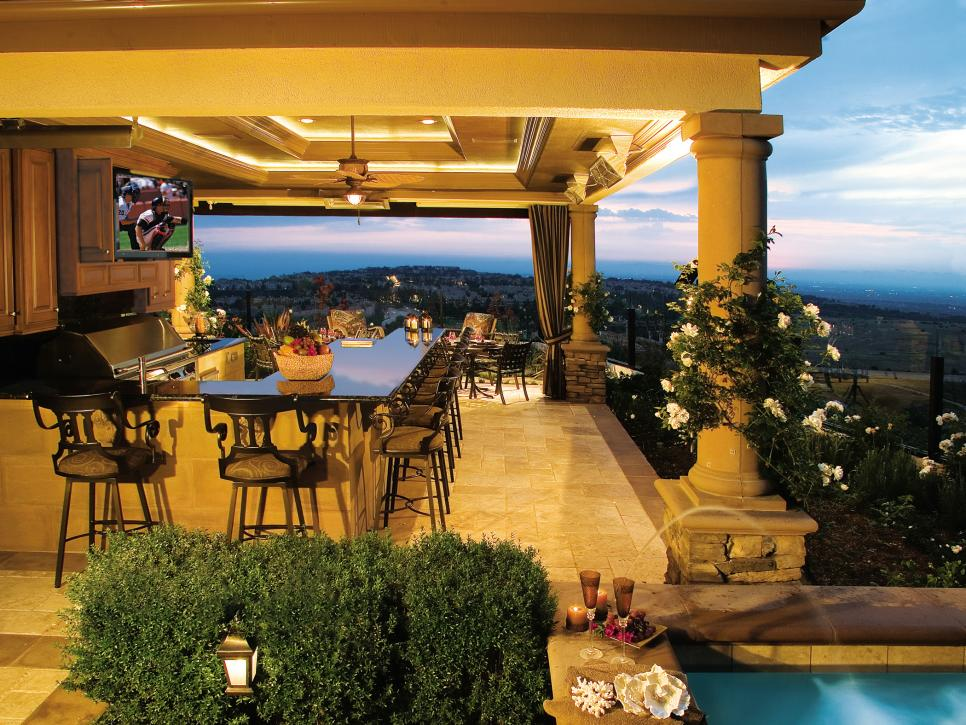 22+ Outdoor Kitchen Bar Designs, Decorating Ideas | Design ... on Backyard Pool Bar Designs  id=86268