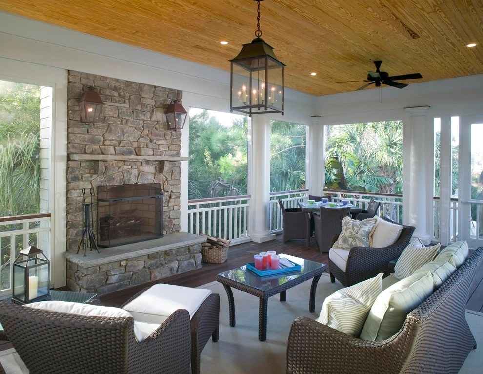 22+ Eclectic Porch Ideas | Outdoor Designs | Design Trends ... on Inclosed Patio Ideas  id=21067