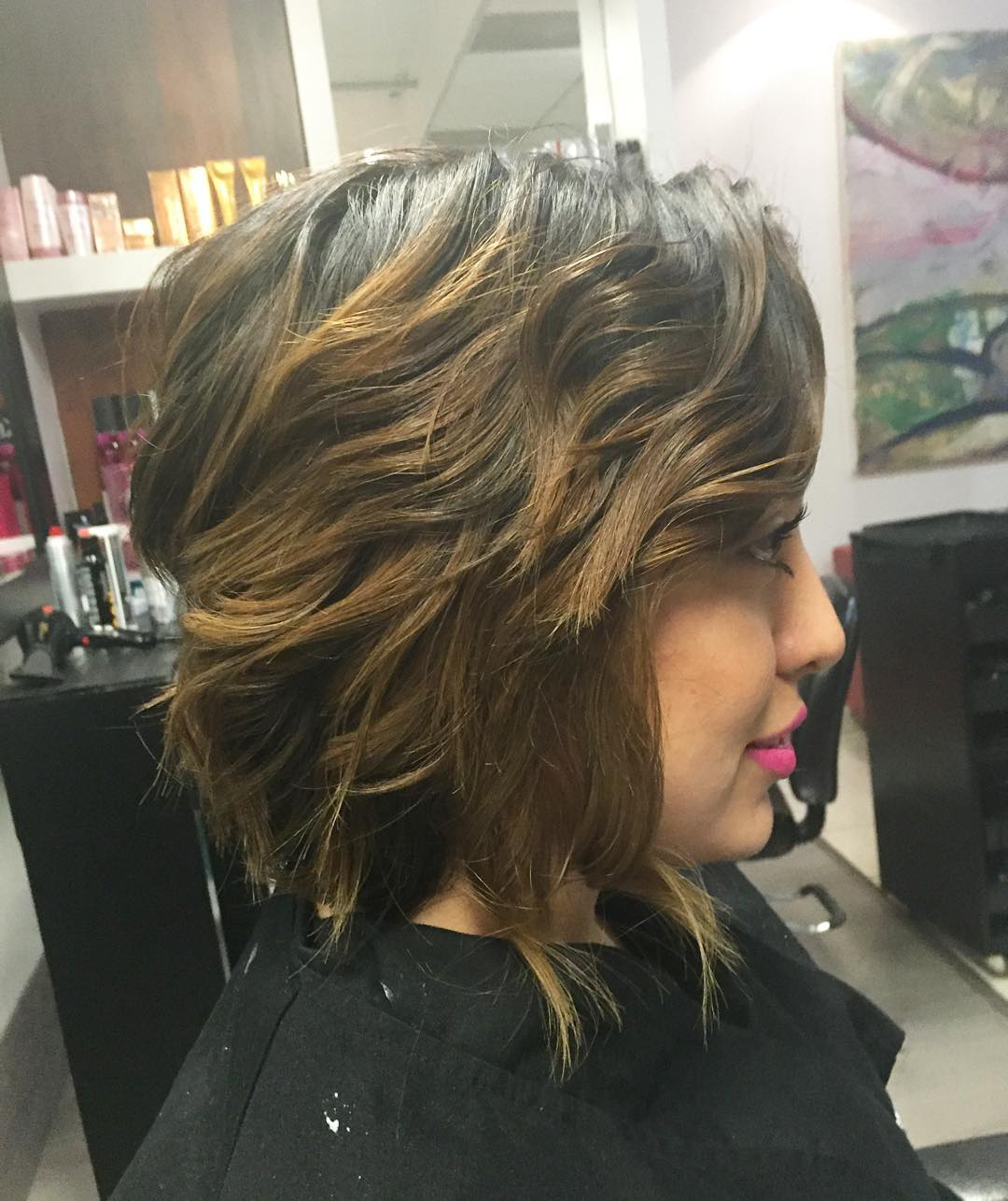 Hairstyles Curly Medium Length Choppy