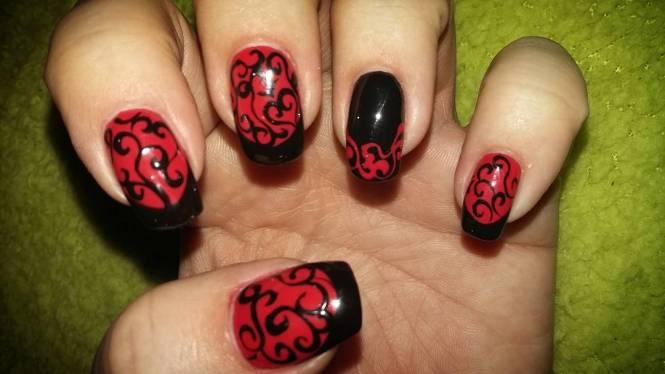 Red And Black Nail Art Designs Emsilog