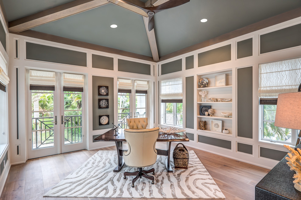 21+ Gray Home Office Designs, Decorating Ideas   Design ... on Beautiful Home Decor  id=47251