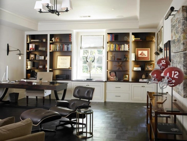 Best Home Office Decorating Ideas   Design Trends   Premium PSD     Stylish Home Office Decor Idea