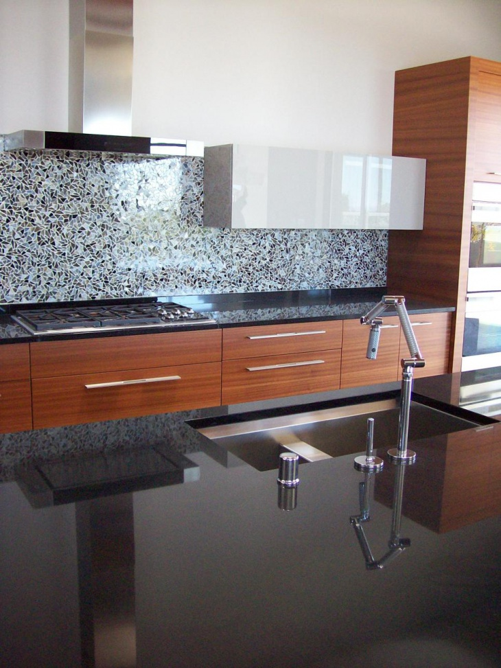 22+ Stylish Kitchen Countertop Designs, Ideas, Plans ... on Kitchens With Black Granite Countertops  id=58240