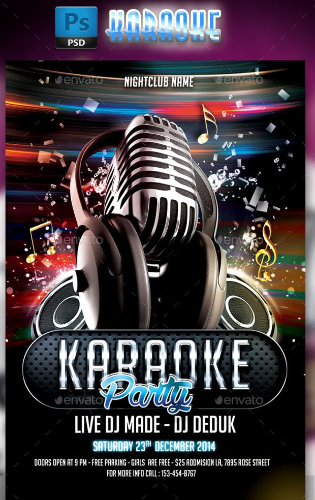 21 Karaoke Flyer Design PSD Download Design Trends Premium PSD Vector Downloads