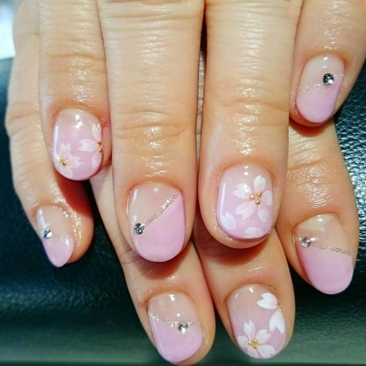 Geous Cherry Blossom Nail Art