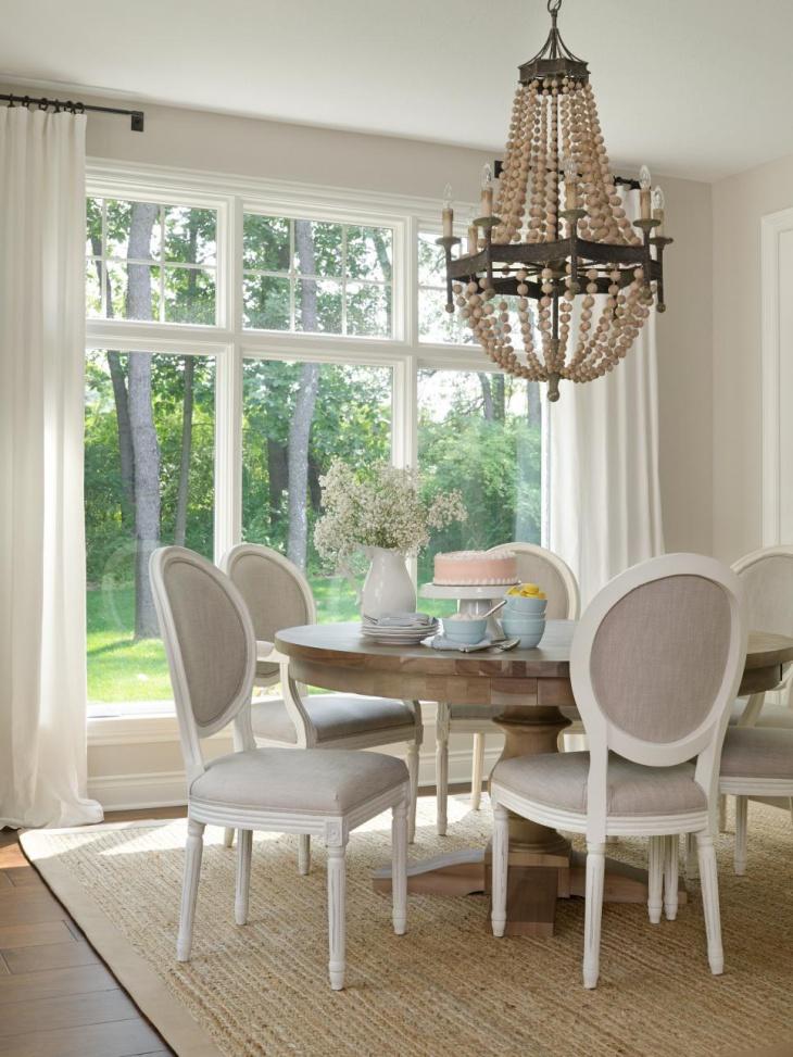 22+ Wood Chandeliers Designs, Decorating Ideas   Design ... on Farmhouse:-Cra1Rtrksu= Dining Room Curtains  id=22477