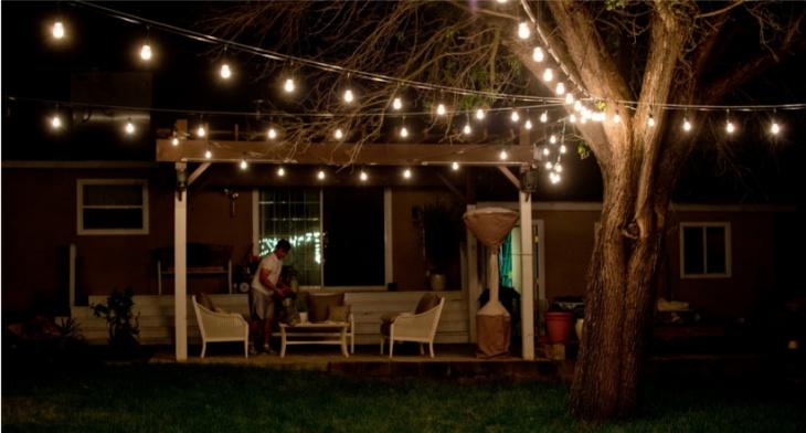 23+ Outdoor String Light Designs, Decorating Ideas ... on Backyard String Light Designs id=19002