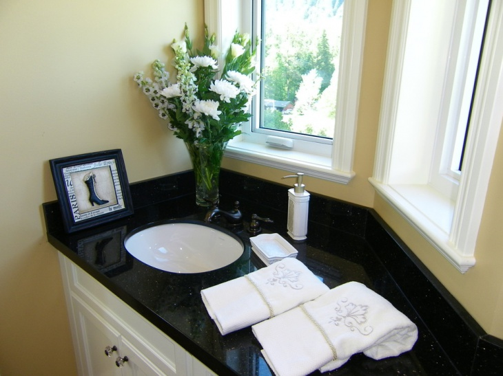 21+ Granite Bathroom Countertop Designs, Ideas, Plans ... on Bathroom Ideas With Black Granite Countertops  id=48459