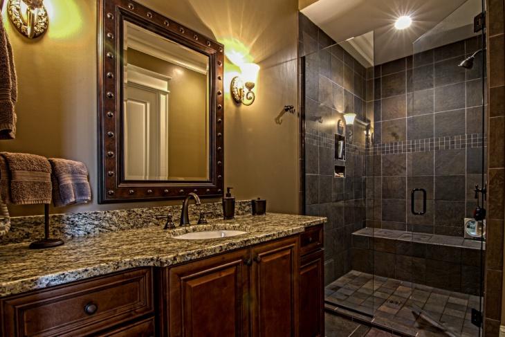 21+ Granite Bathroom Countertop Designs, Ideas, Plans ... on Bathroom Ideas With Black Granite Countertops  id=93451