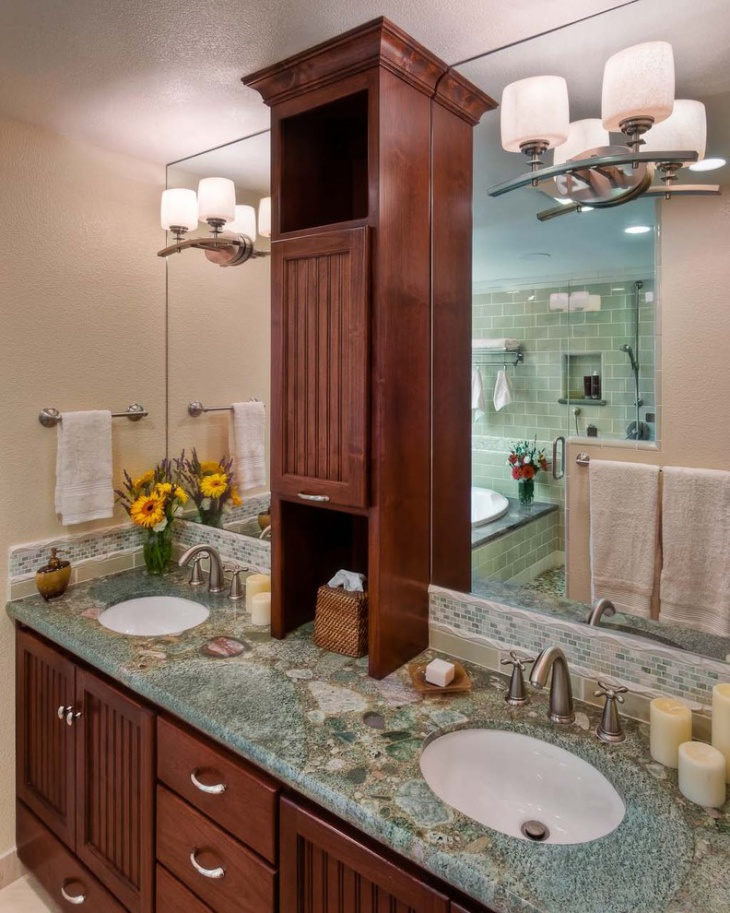 21+ Granite Bathroom Countertop Designs, Ideas, Plans ... on Bathroom Ideas With Black Granite Countertops  id=82185