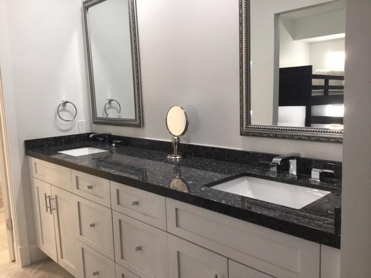 21+ Granite Bathroom Countertop Designs, Ideas, Plans ... on Black Granite Countertops  id=43334