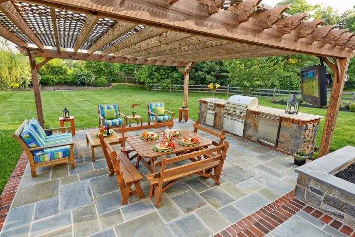 17+ Brick Patio Designs , Ideas   Design Trends - Premium ... on Backyard Brick Patio id=84901