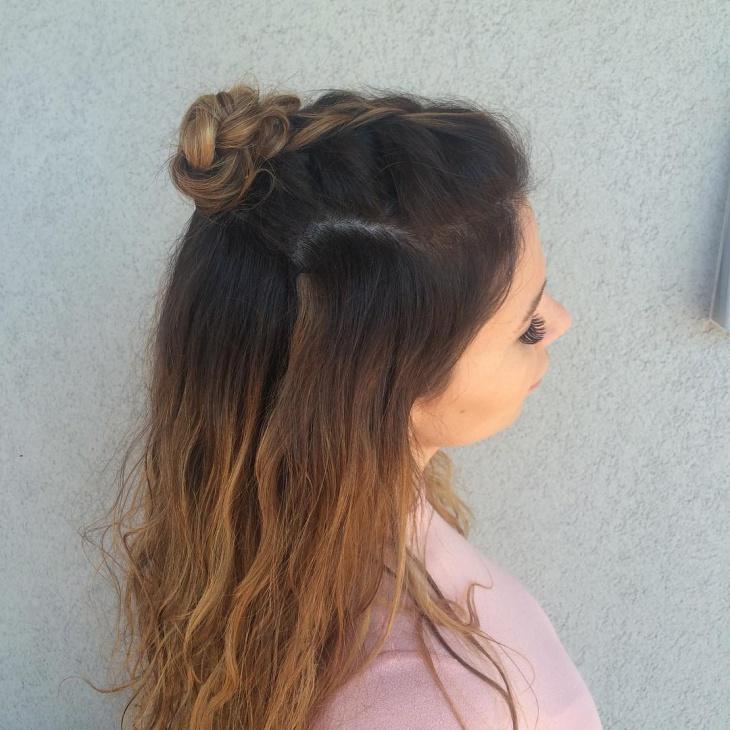 21 Braid Top Knot Hairstyle Ideas Designs Haircut