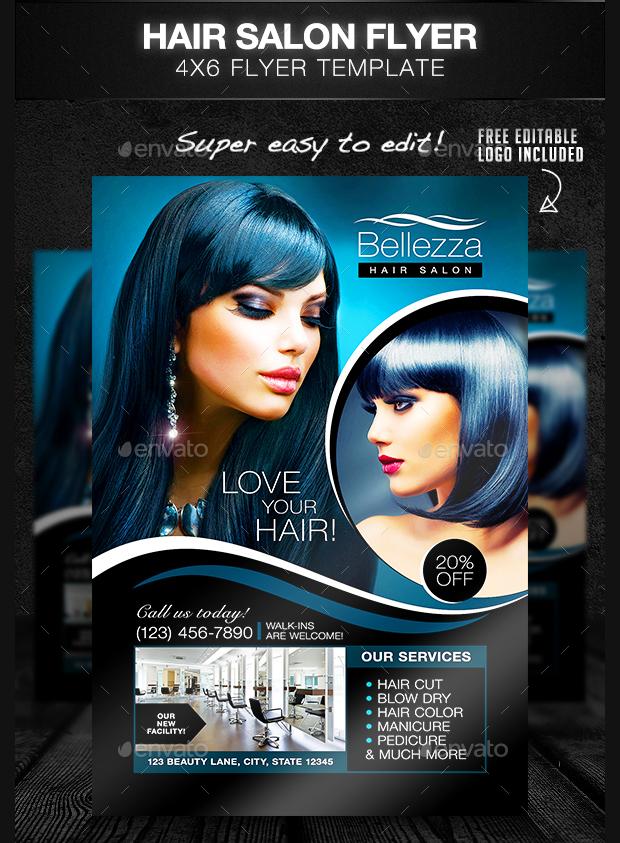 29 Hair Salon Flyer Templates And Designs Word PSD AI