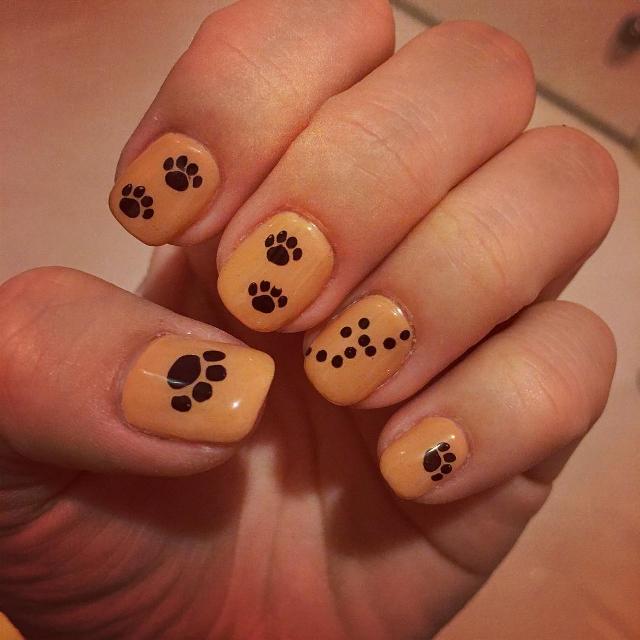 Panther Paw Nail Art Idea