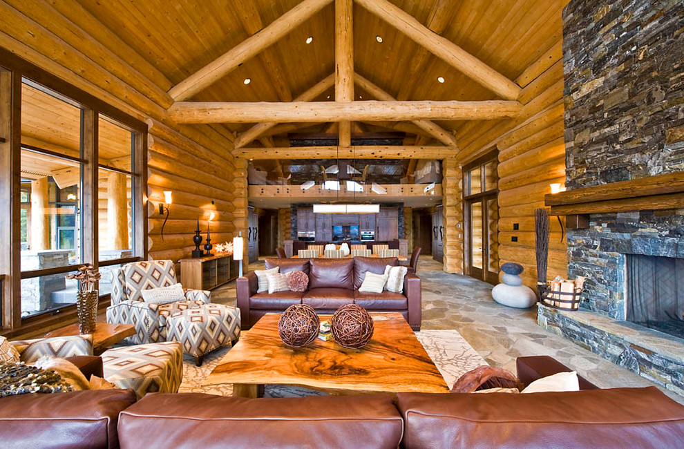 20+ Cabin Living Room Designs, Ideas
