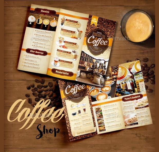 18 Coffee Shop Brochure Designs And Templates Word PSD EPS Vector Design Trends Premium