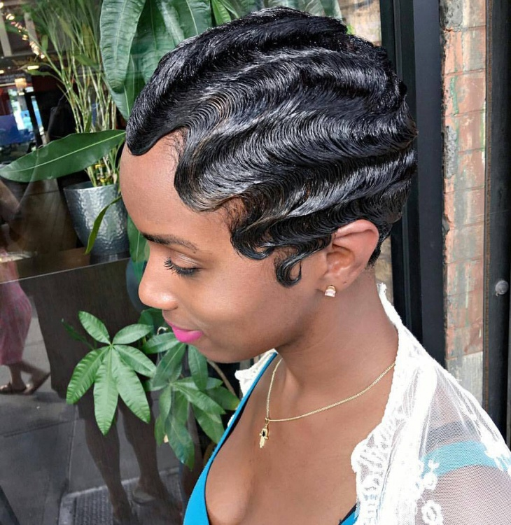 A finger wave is a method of setting hair into waves (curls) that was popular in the 1920s and early 1930s and again in the late 1990s in north america and. 21+ Finger Wave Hairstyle Ideas, Designs | Haircuts