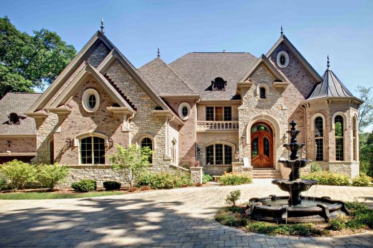 Big House Driveway Fountain