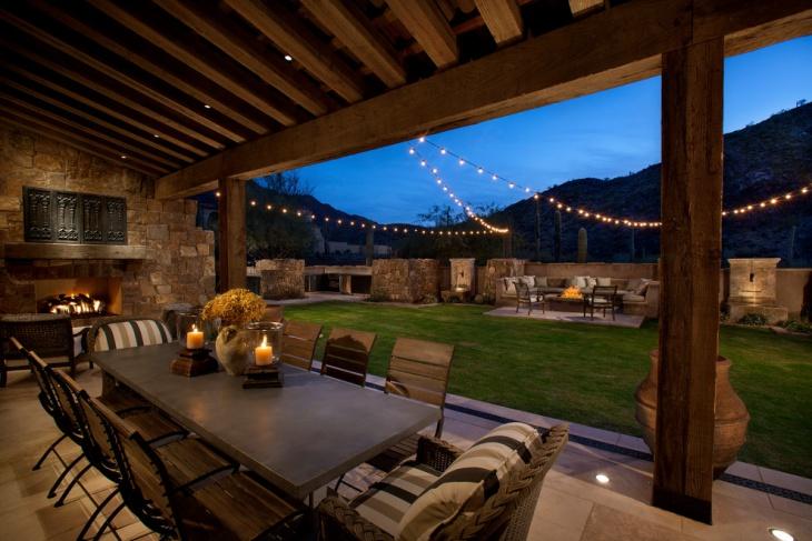 16+ Patio String Light Designs, Ideas | Design Trends ... on Backyard String Light Designs id=50121
