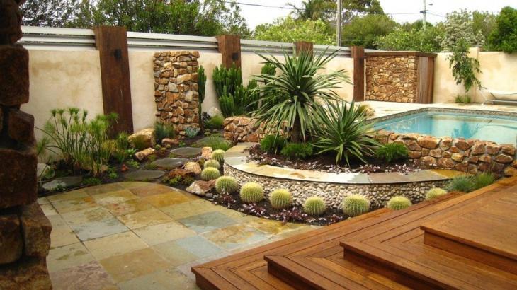 16+ Cactus Rock Garden Designs, Ideas | Design Trends ... on Backyard Rock Designs id=30748