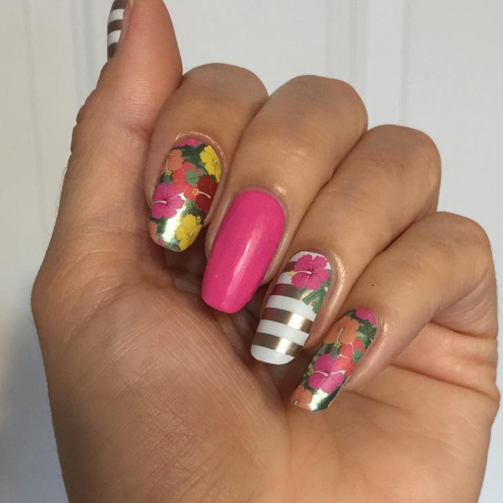 Hawaiian nail art stickers nail art ideas 21 hawaiian nail art designs ideas design trends premium psd prinsesfo Image collections