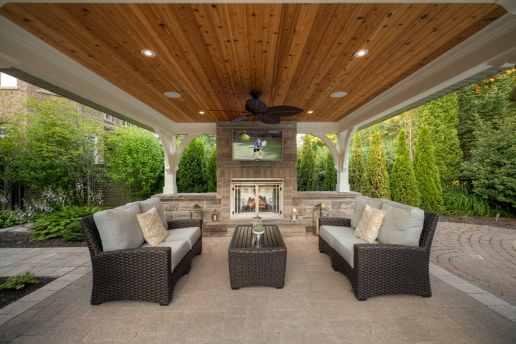20+ Outdoor Ceiling Lights Designs, Ideas | Design Trends ... on Patio Cover Ideas Uk id=19880