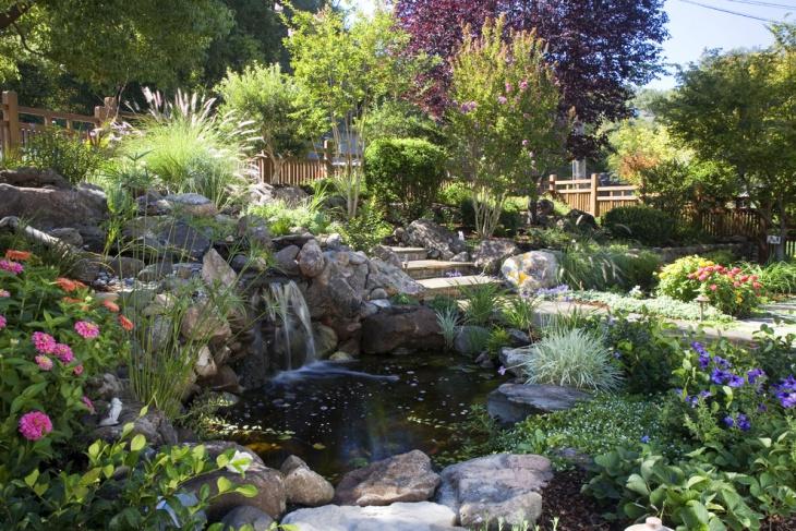 18+ Garden Pond Designs, Ideas | Design Trends - Premium ... on Backyard Pond Landscaping Ideas id=64509