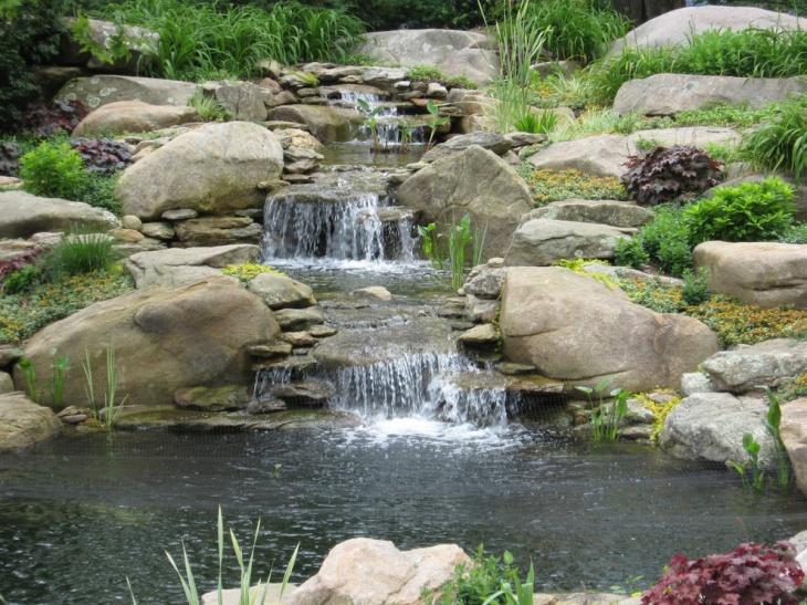 18+ Garden Pond Designs, Ideas | Design Trends - Premium ... on Waterfall Ideas For Garden id=61525