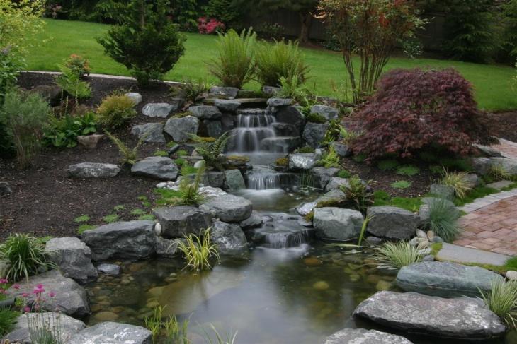 18+ Garden Pond Designs, Ideas   Design Trends - Premium ... on Landscape Pond Design id=28006